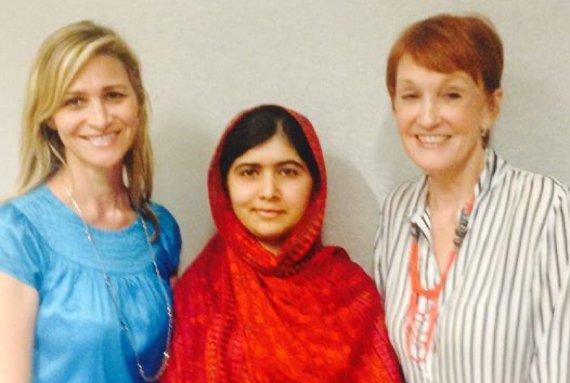 Amy and kathy with Nobel Laureate Malala