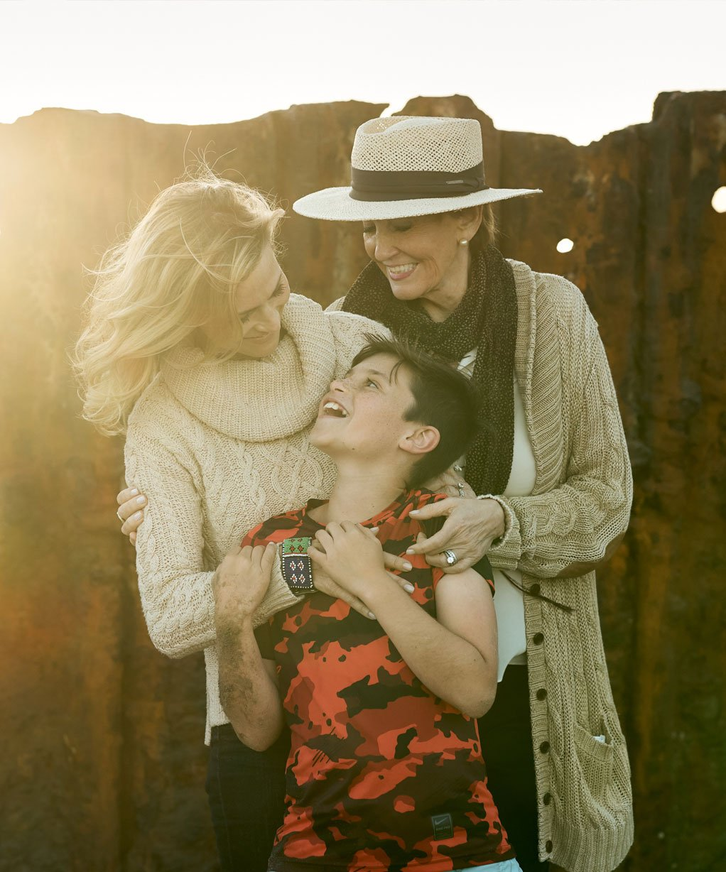 Kathy with her daughter and grandson