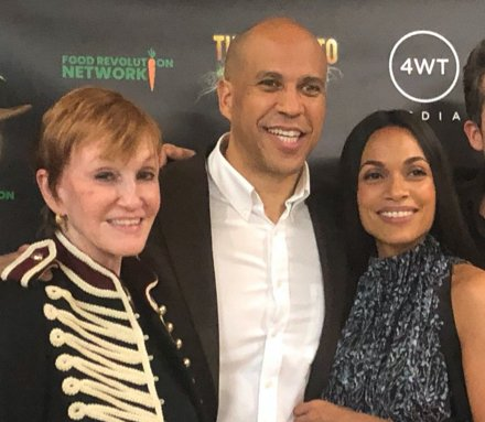 Kathy, Cory Booker, and Rosario Dawson