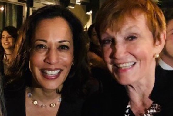 Kathy and Senator Kamala Harris