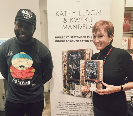 Kathy and Kweku Mandela