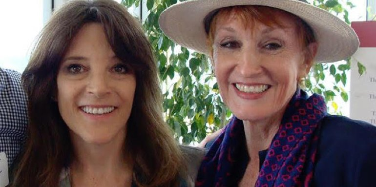 Kathy and Marianne Williamson